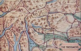 The Trossachs Map Postcard
