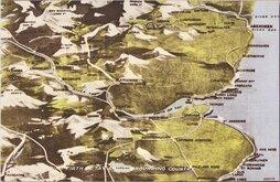 Firth of Tay Map Postcard