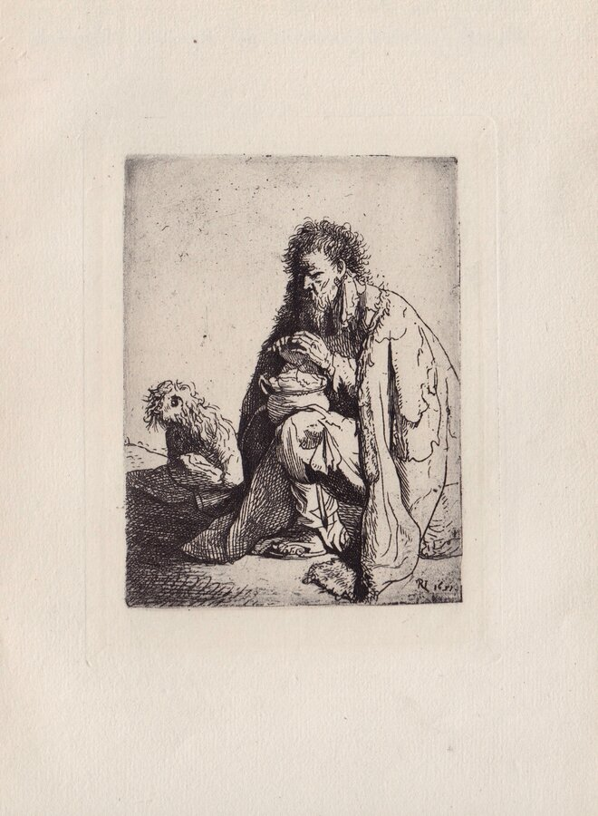 A Beggar and his Dog by Rembrandt