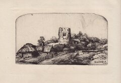 Landscape with Square Tower by Rembrandt