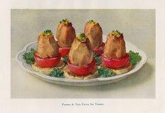 Pommes de Terre Farcies Sur Tomates.
