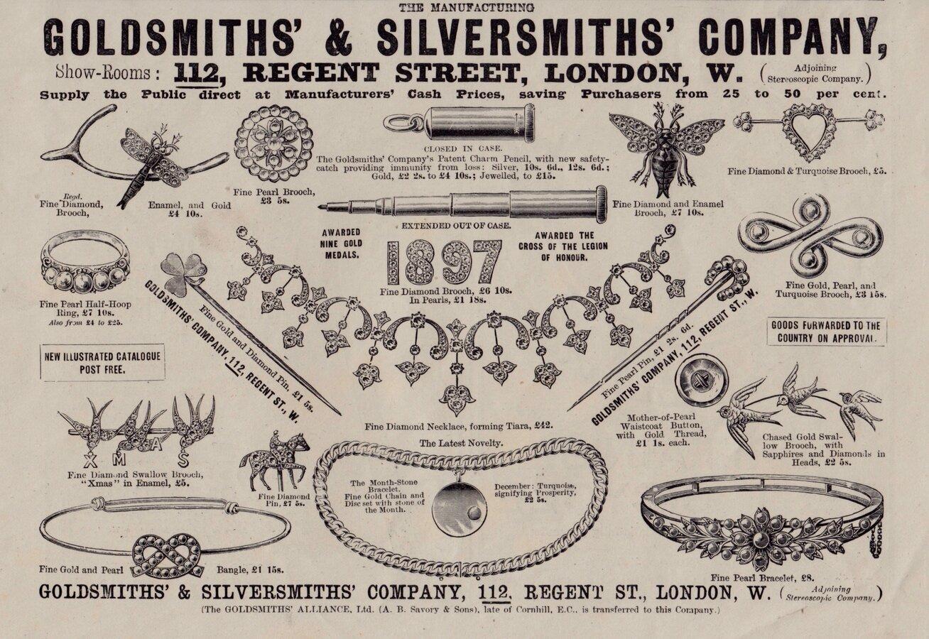 Ad. Goldsmiths Jewellery 1897
