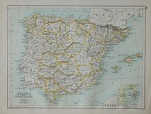 Spain & Portugal. Bartholomew