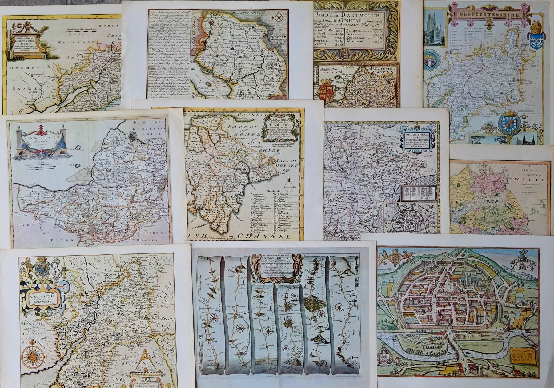 Repro Maps Bundle South West