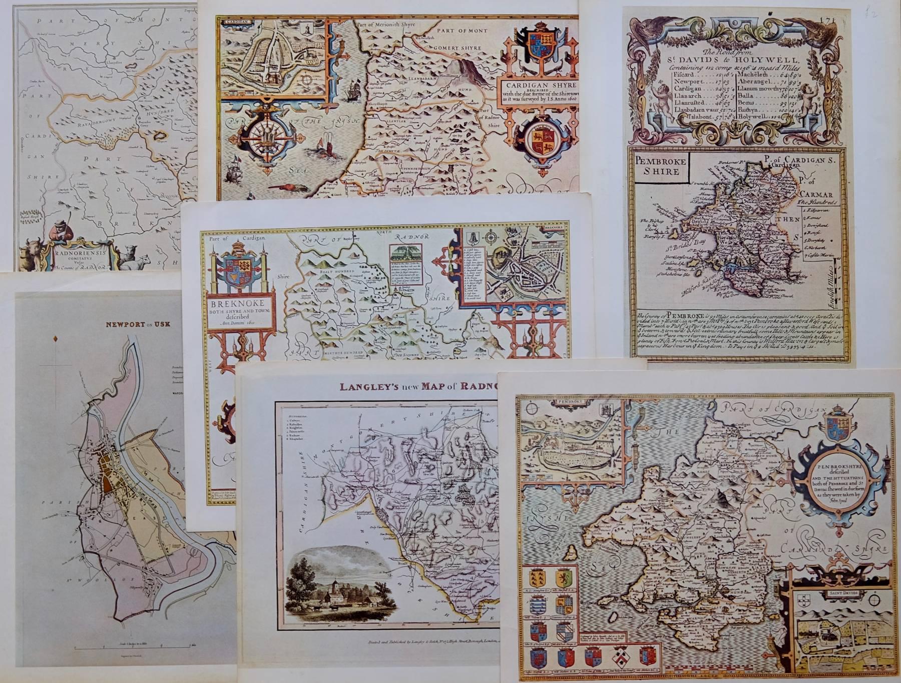 Repro Maps Bundle South Wales
