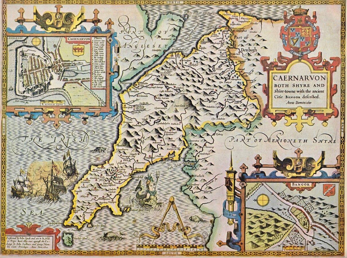 Repro Maps Bundle North Wales
