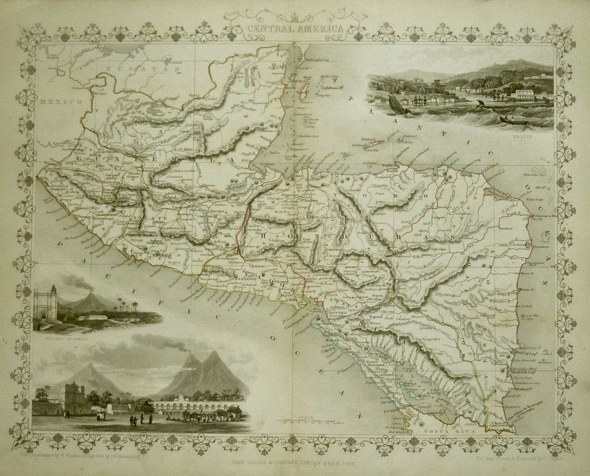 Central America by Tallis