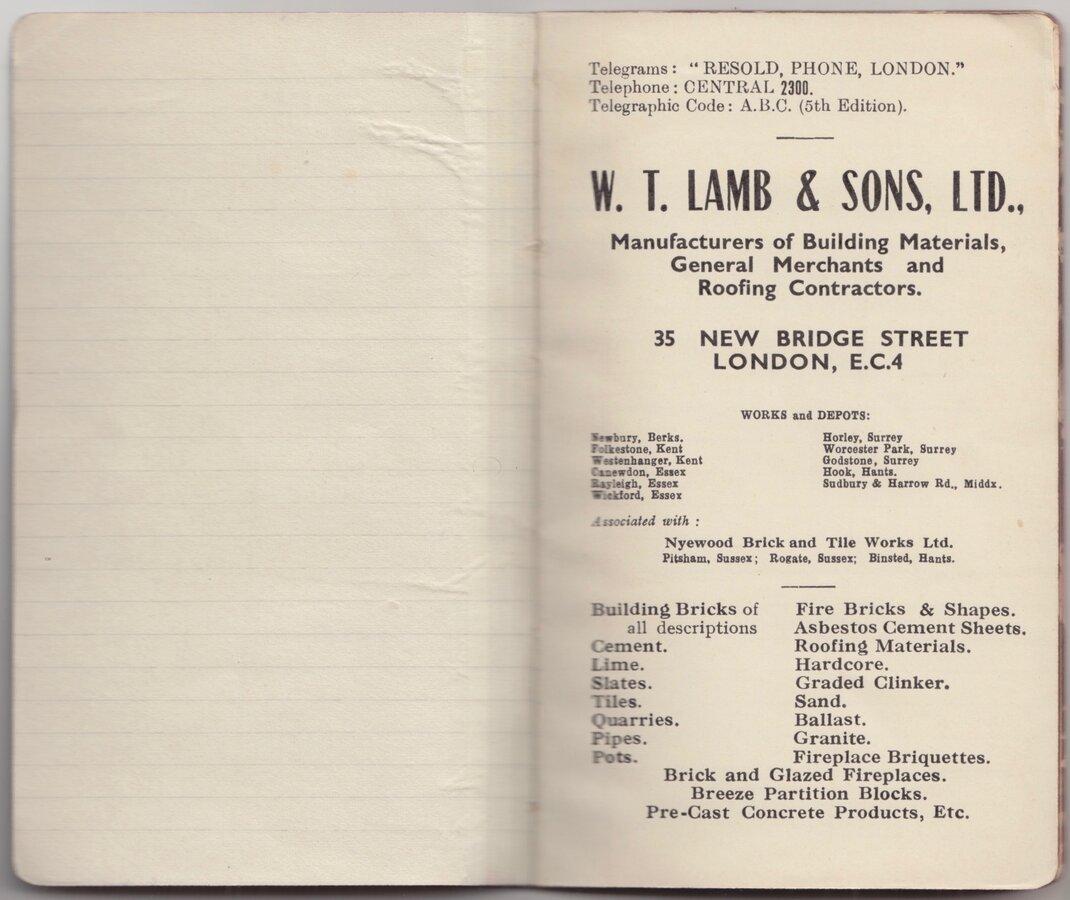Lamb & Sons Notebook