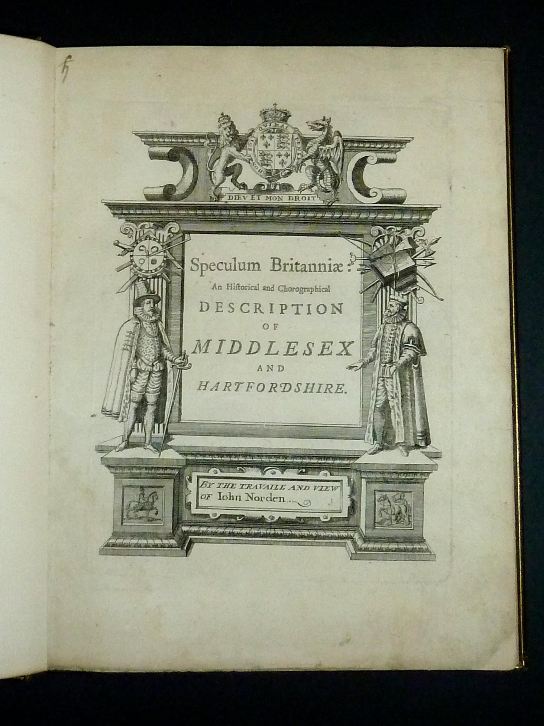 Speculum Britanniae Middlesex & Hertfordshire